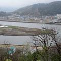 2619 日和山公園から見た石巻② 湊小学校方向