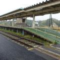 398 旧・野蒜駅のホーム(震災遺構)