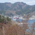 釜石大観音から望む釜石港