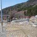 唐丹駅付近の三陸鉄道の被害