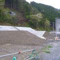 556 相川小学校跡地付近の工事状況