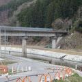 2399 唐丹駅~石塚トンネル間の片岸川鉄橋と片岸川の復旧