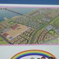040 閖上地区復興事業のイメージの看板