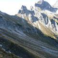 Blick zum Hornbachjoch mit den Höllhörnern