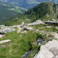 Im Aufstieg zur Matatzspitze