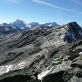 Blick zur Mittleren Pederspitze sowie Schildspitze und zur Königspitze