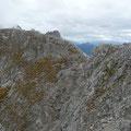 Gratweg im Gipfelbereich