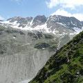 Blick zur Bergstation der Seilbahn,sowie zur Schaubachhütte