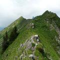 Perspektive vom Üntschengrat,von der Hinteren Üntschenspitze