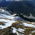 In der Gipfelflanke