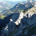 Blick auf Schartschrofen Haller Schrofen und Läuferspitze
