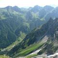 Wildental mit Fluchtalpe,Fiderepasshütte sowie den Schafalpenköpfen.