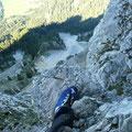 Im Freidberger Klettersteig