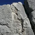 Steile Wandpassage an der Läuferspitze