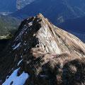 Rückblick über den Gipfelgrat