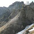 Gesteinsformationen beim Aufstieg zum Fluhlöchle