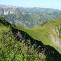 Aufstiegsweg vom Sattel zum Kegelkopf