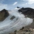 Blick zur Similaun mit Gletscher