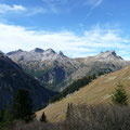 Höhenbachtal mit Kratzer Trettachspitze Mädelegabel und Hochfrottspitze