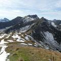 Vordere und Hintere Steinkarspitze mit Knittelkarspitze