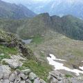 Obisell Alm und See vom Spitzhorn gesehen