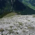 Der Obere Abschnitt des Aufstiegsweges