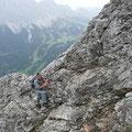 Kletterstellen unterhalb des Gipfels