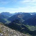Blick von Berwang bis zum Wettersteingebirge