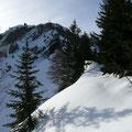 Blick zum Gipfel.Der Weg wird nun immer umständlicher
