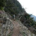 Aufstieg über den Unteren Vellauer felsenweg