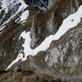 Blick auf den Aufstiegsweg vom Gehrenjoch zur Gehrenspitze