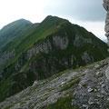 Übergang vom Bärenkopf Südgrat in den Sattel