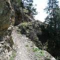 Passage am Unteren Vellauer Felsenweg