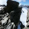 Passage am Grat zwischen Plattenspitze und Schildspitze