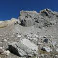 Rückblick zum Höhenweg und zum Kälberlahnzugjoch