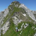 Gratweg und Gipfelbereich der Hohen Kreuzspitze