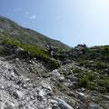 Steiler Abschnitt im Aufstieg