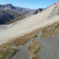 Am Höhenweg unterhalb der Feuerspitze,in der Nähe des Stierlahnzugjoch