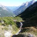Blick ins Lechtal,beim Aufstieg zum Kanzberg