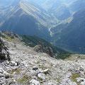 Abstieg von der Knittelkarspitze über Schönjöchl nach Namlos