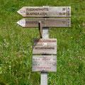 Start bei der Römerkehre / Hinweisschild