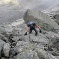 Im Aufstieg zum Tschigat