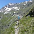 Rückblick zum Gipfel der Hohe Wilde