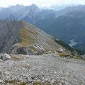 Gratweg zum Gipfel des Grubigstein
