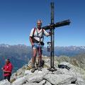Hermann solo am Gipfel