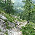 Abstieg zur Unteren Ulfas Alm