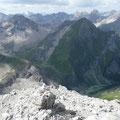 Blick zur Oberlahmsspitze