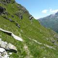 Am Höhenweg mit Blick zur Sefiarspitze