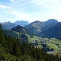 Von links.Upsspitze mit Daniel,Zugspitze,Bleispitze und Gartnerwand
