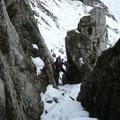 Im Kamin der Sulzleklammspitze